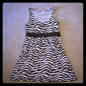 FINAL!!Michael Kors Brown Zebra dress with pockets